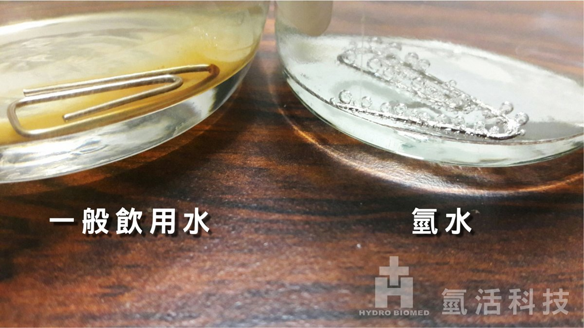 氫水 實驗 室 溶氫 抗氧化 vs 一般飲用水