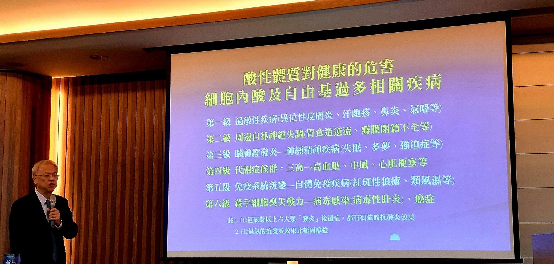 氫氧免疫輔助療法應用新趨勢研討會-台灣氫氣應用研究推廣學會理事長王群光醫師