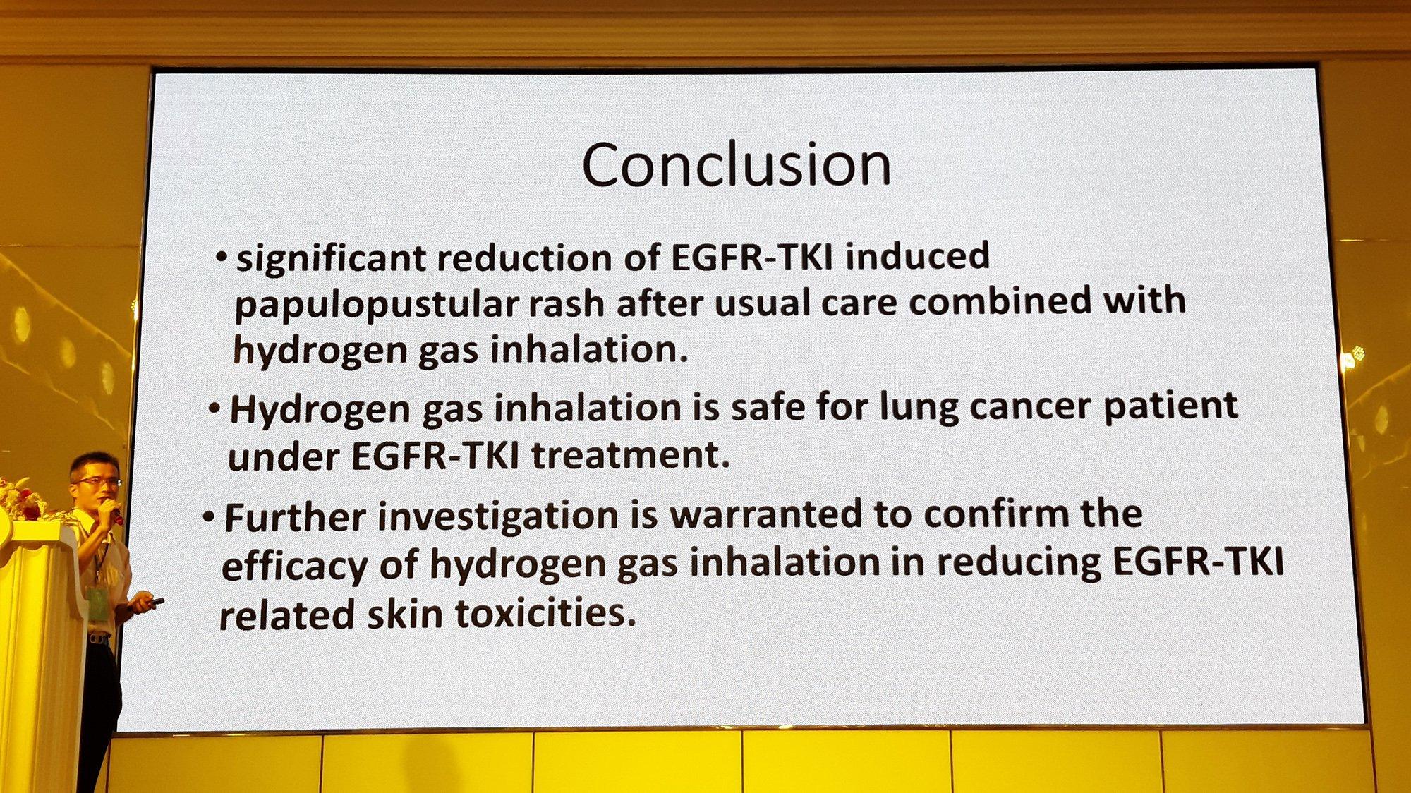 氫分子醫學 研討會-30 氫氣吸入對於標靶藥物誘導之皮膚副作用的影響-義大 呼吸胸腔內科 陳俊榮醫師 及 癌治療醫院 黃明賢副院長